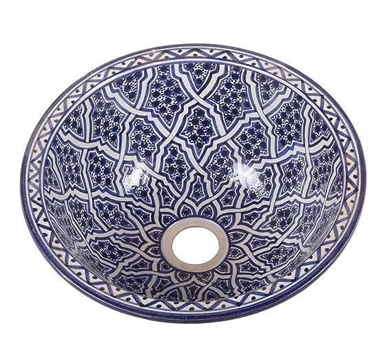 Meubles Lavabo en céramique oriental 50 Ø 35 cm rond ...