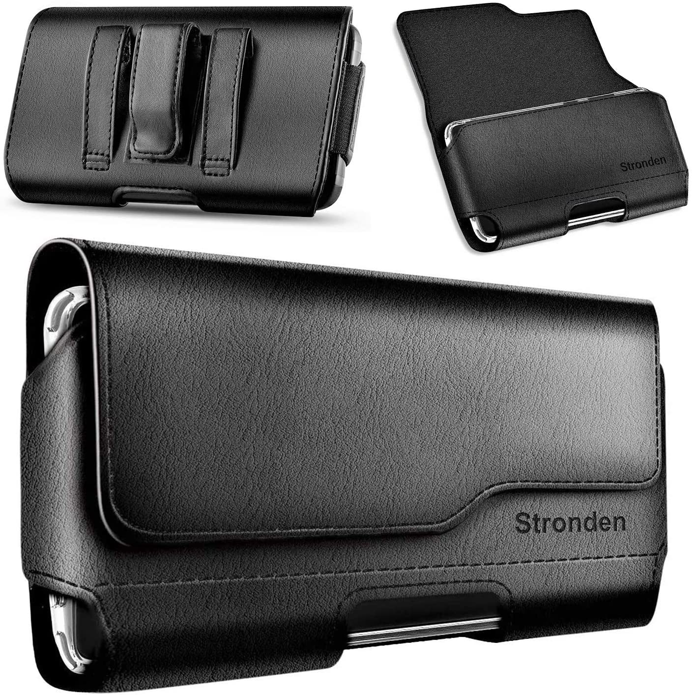 Stronden Holster for iPhone SE (2020), iPhone 8, 7, 6S Belt Case with Clip, Apple iPhone 8 Leather Belt Clip Case Holster Pouch Phone Holder (Fits Otterbox Commuter/Symmetry Case)