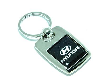 Llavero chapado en plata, metal pesado de Hyundai: Amazon.es ...