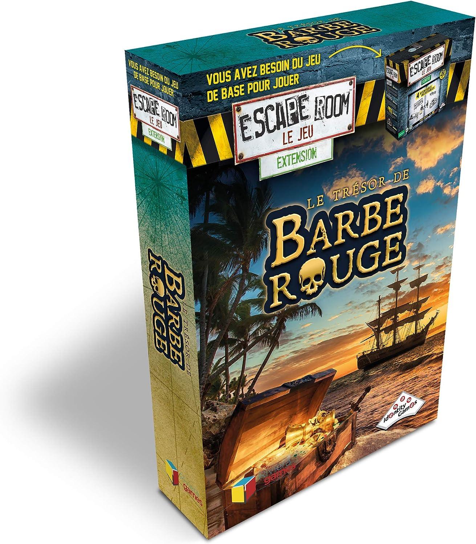 Riviera Games - Extensión Escape Room El Juego, 5011, el Tesoro de Barba, Color Rojo: Amazon.es: Juguetes y juegos