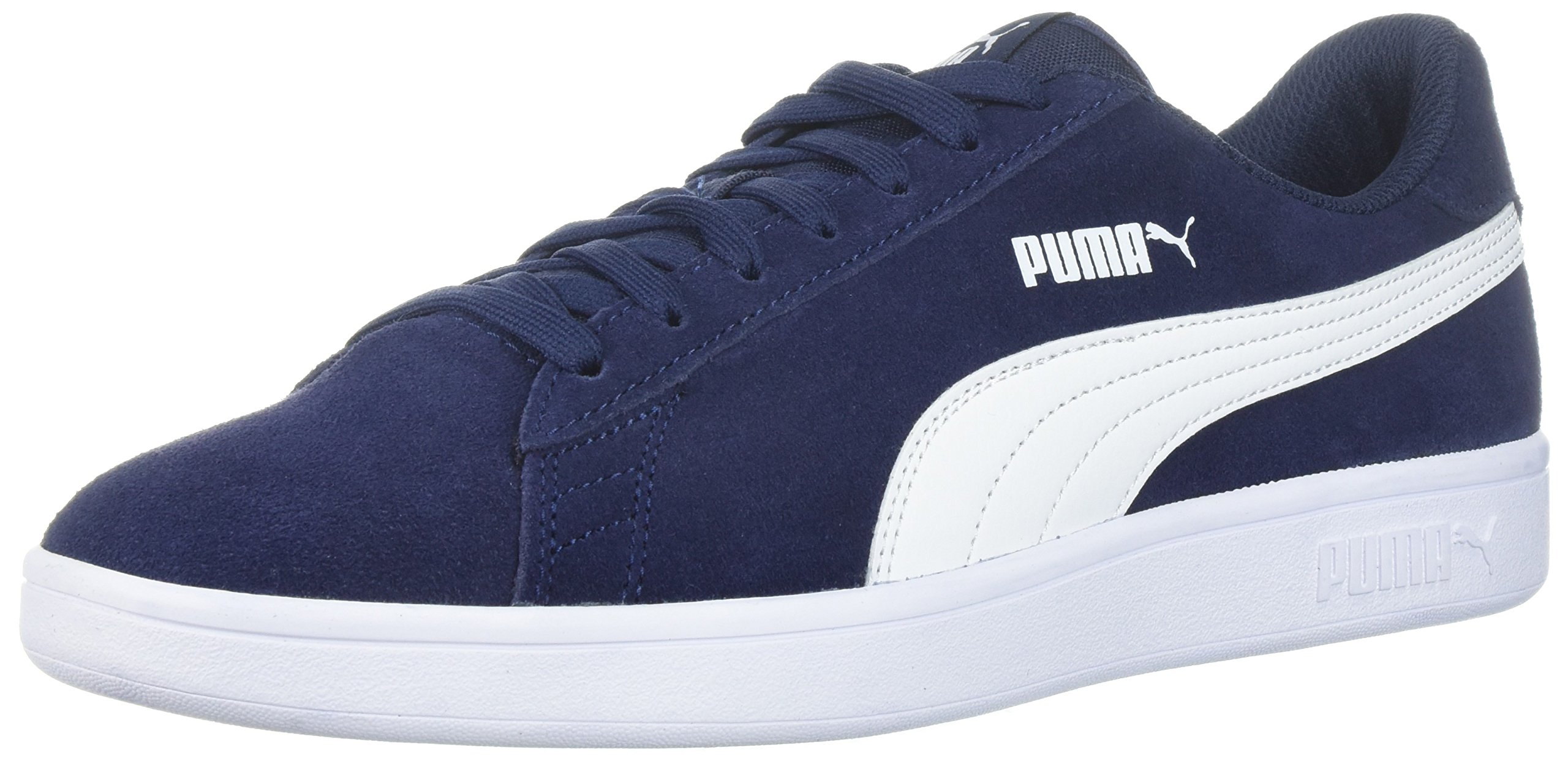 PUMA Men's Smash v2 Sneaker, Peacoat White, 12 M US
