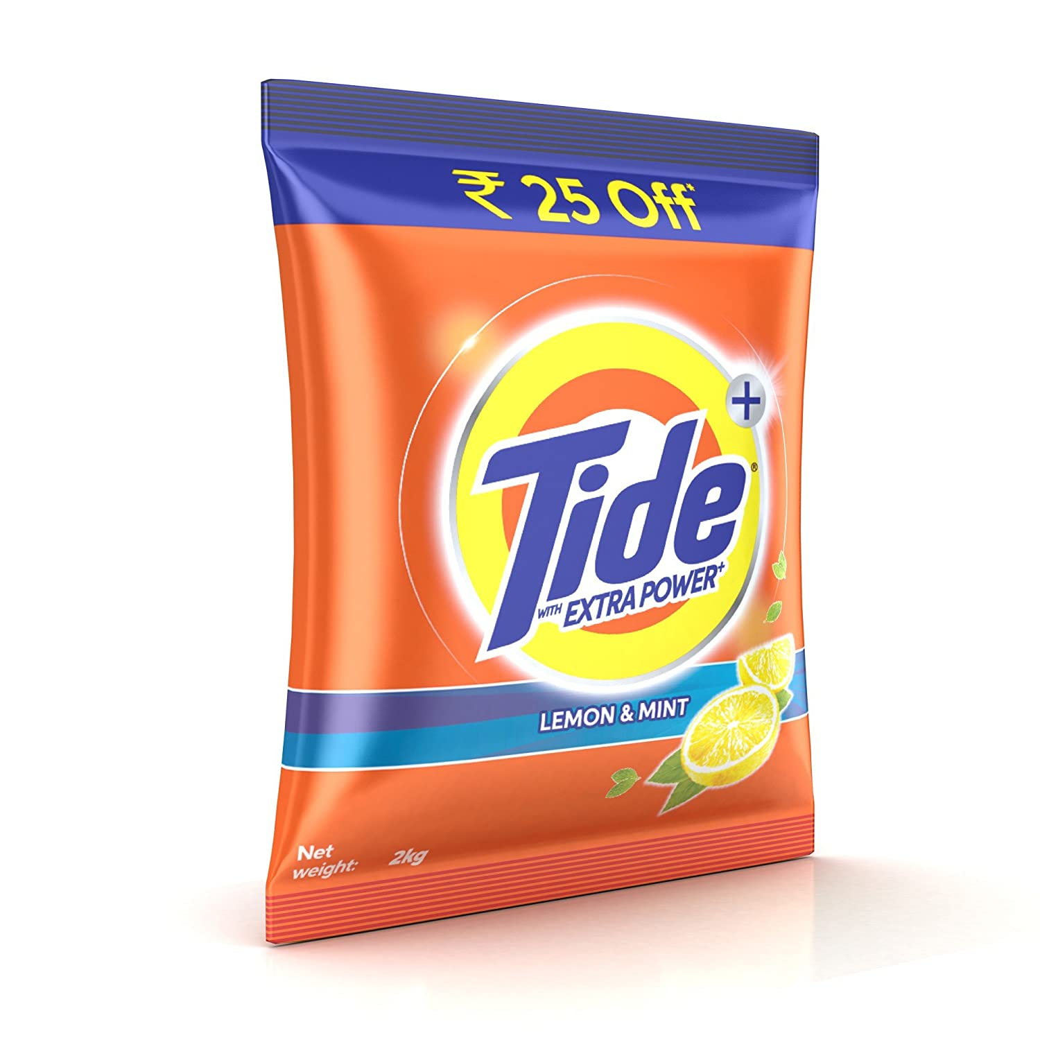 Tide Plus Extra Power Detergent Washing Powder - 2 kg (Lemon and