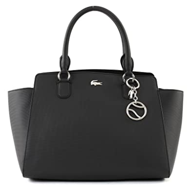 f5b735565f32 LACOSTE Daily Classic Shopping Bag Black  Amazon.co.uk  Shoes   Bags