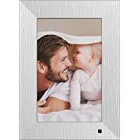NIX Lux Digital Photo Frame 10 inch X10J, Metal. Electronic Photo Frame USB SD/SDHC. Clock and Calendar Function. Digital Picture Frame with Motion Sensor. Remote Control and 8GB USB Stick Included