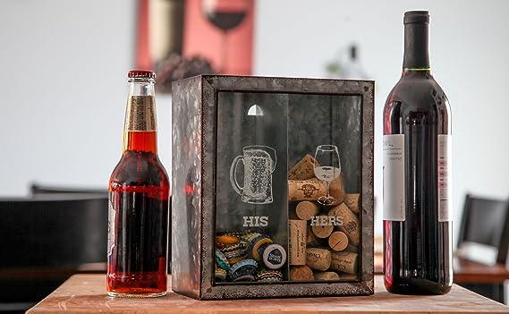 Amazon.com: Lily s Home His and Hers vino corcho y soporte ...