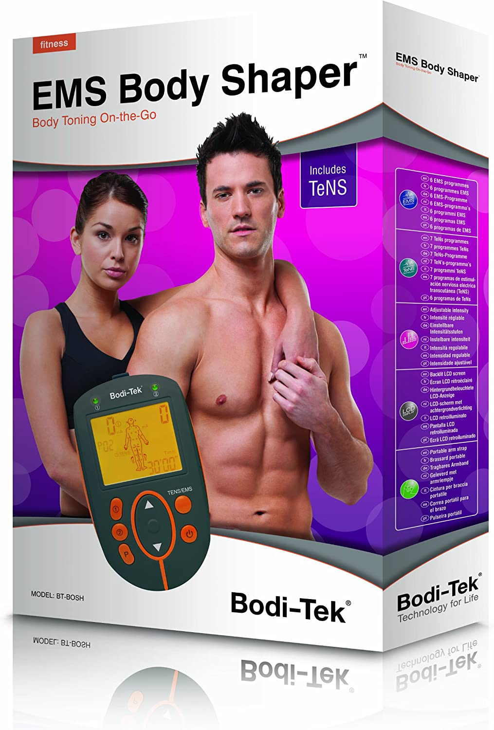Tabanlly Electric ABS Smart Hips Trainer,EMS Stimulator Toner Body Sculpting Massager for Sports Lose Weight