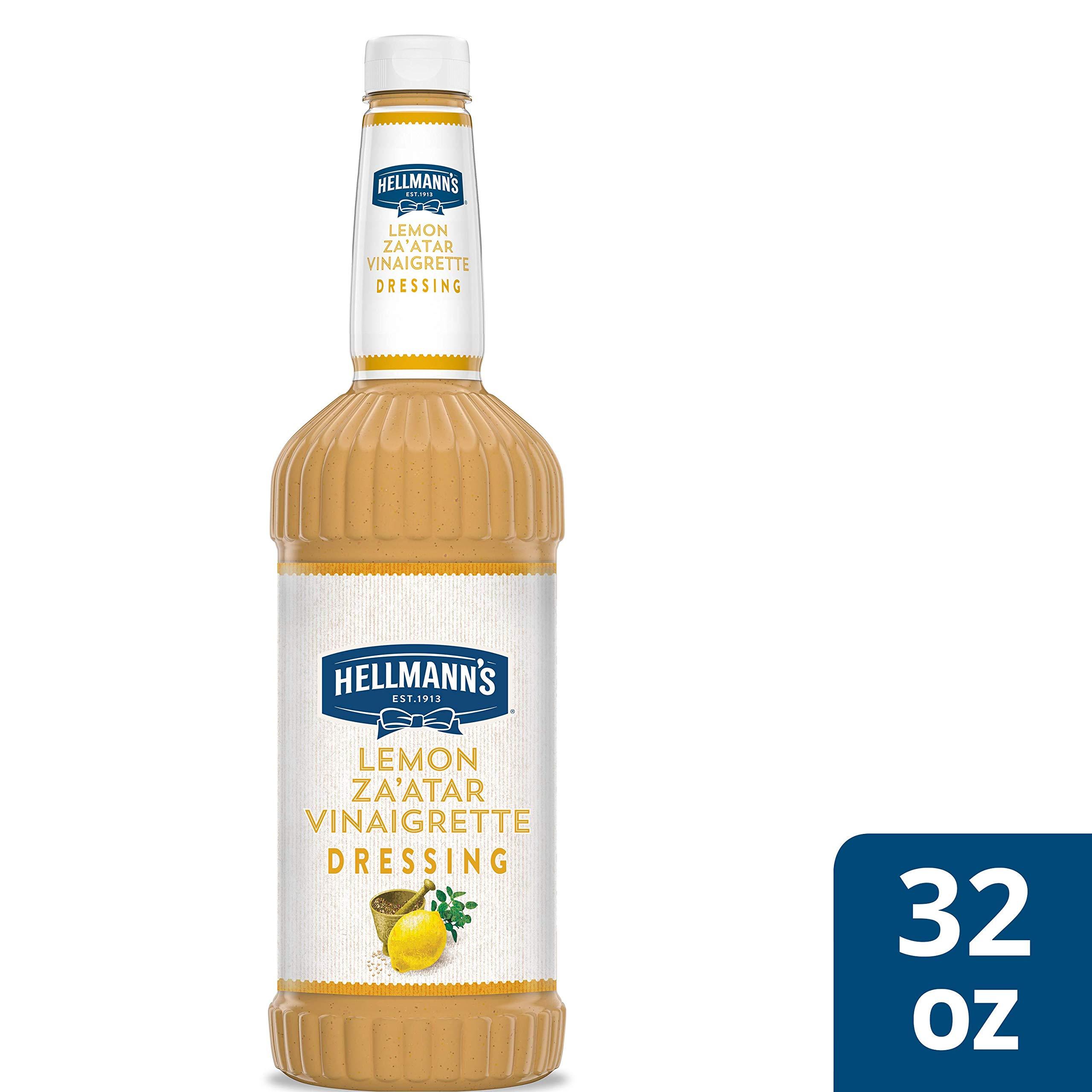 Hellmann's Lemon Za'atar Vinaigrette Salad Dressing Salad Bar BottlesGluten Free, No Artificial Flavors, Colors, added MSG or High Fructose Corn Syrup, 32 oz, Pack of 6 by Hellmann's