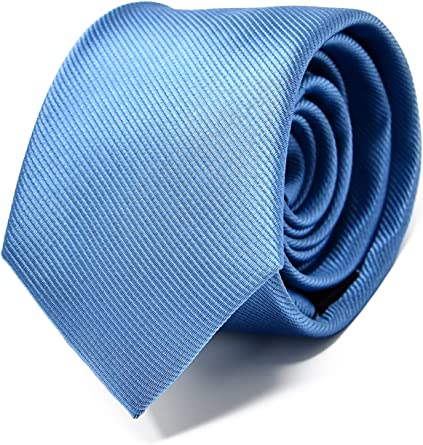 Oxford Collection Corbata de hombre Azul Claro - 100% Seda ...
