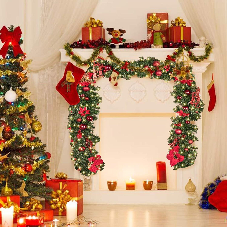 Amazon Coxeer Christmas Garland 9 Ft Holiday Graland Flower