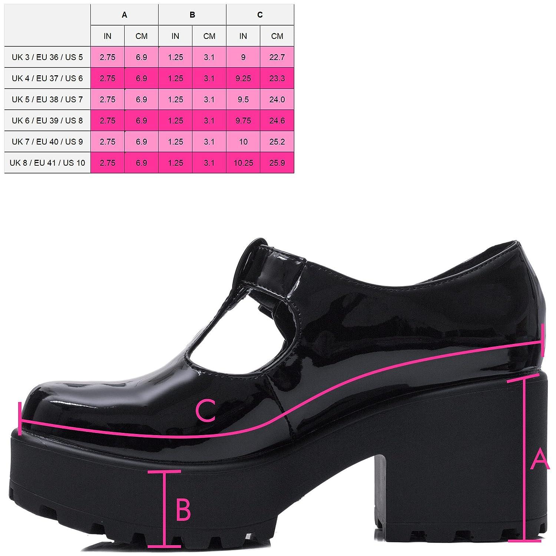 SPYLOVEBUY CATTIE Mujer Hebilla Tac/ón Bloque Botes Bajas Zapatos