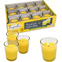 Citronella Candle Votives in Glass Cup - 12 Pack - Indoor and Outdoor Decorative and Mosquito, Insect and Bug Repellent…