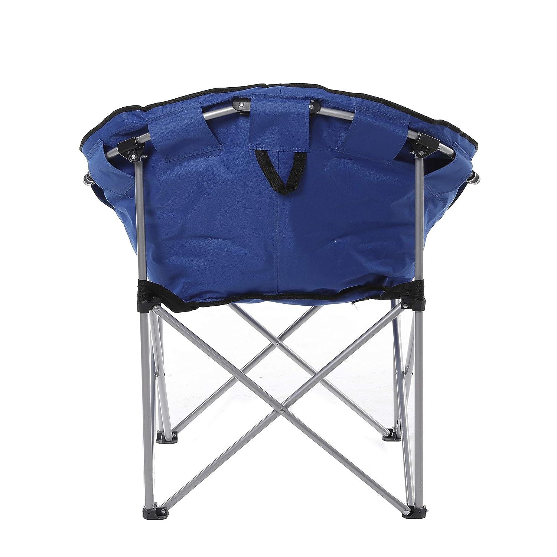Surprising Ecolinear Oversized Folding Faux Fur Moon Saucer Chair Blue Alphanode Cool Chair Designs And Ideas Alphanodeonline