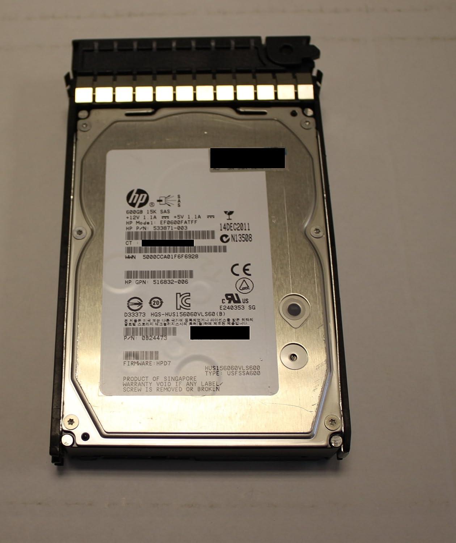 "HP 517354-001 SAS Hard Drive 600GB 15K 3.5"" 6GBps Dual Port in Tray"