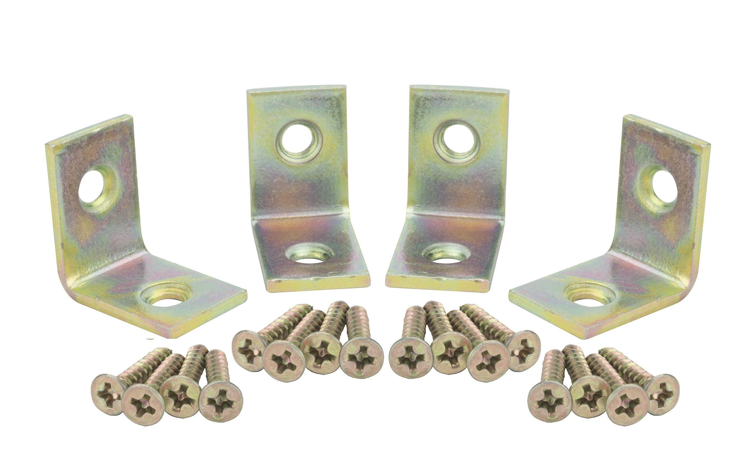 Specialty Hardware Corner Brace 3/4 inch Satin Brass 400pcs