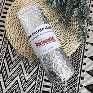 ALLIKE Burrito Blanket 6ft Diameter Round Wraped Like Picture | 100% Microfiber Super Soft Tortilla Blanket| Printed Design on Front with Reverse White Side | Great Gift Idea for Adults & Youth