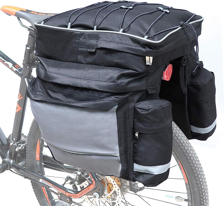 COFIT Bolsa de Maletero de Bicicleta 25L / 68L, Bolsa de Asiento Trasero de Bicicleta de Gran Capacidad como Portaequipajes de Cercanías