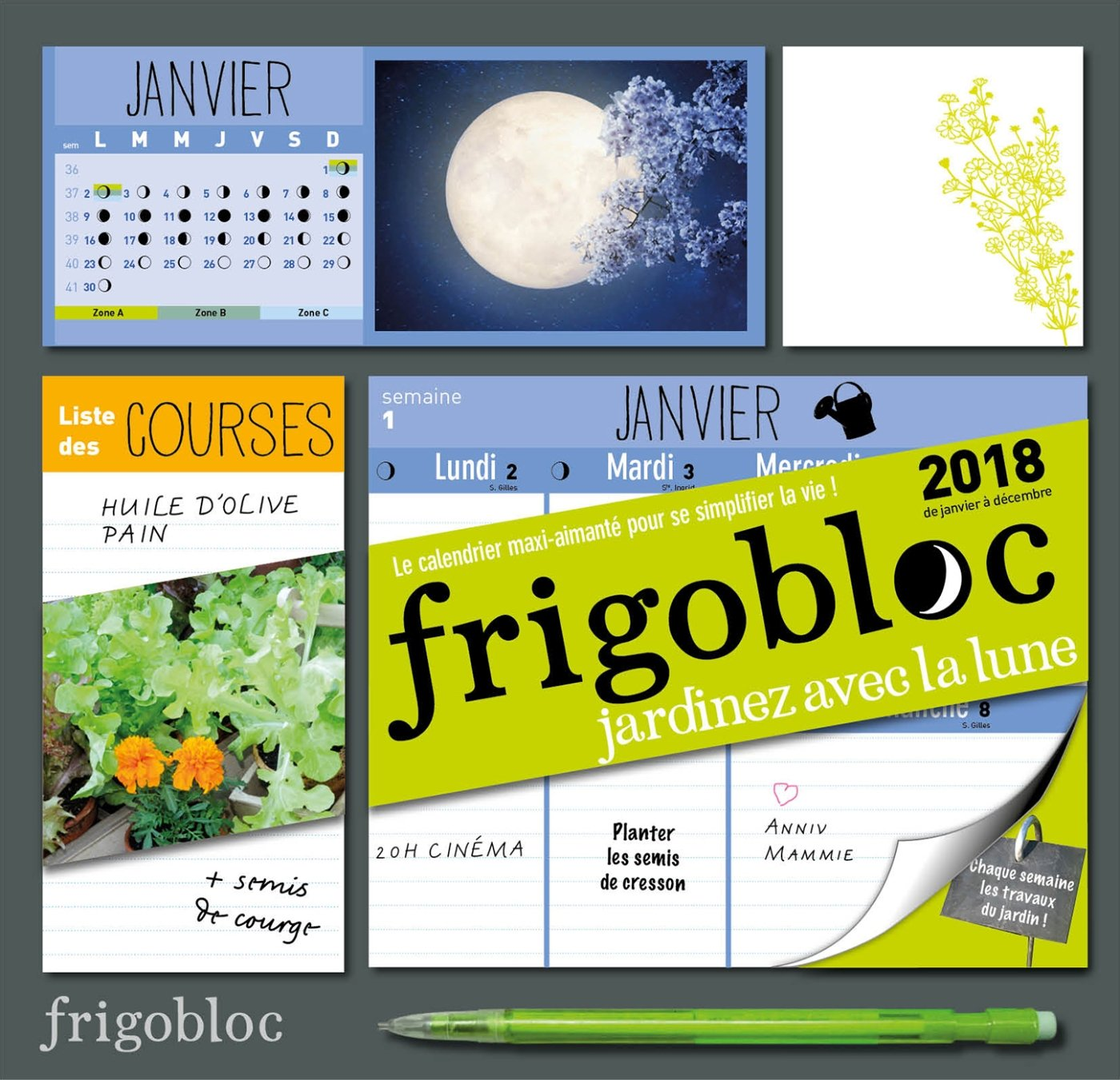 Amazonfr Frigobloc 2018 Spécial Jardiner Avec La Lune