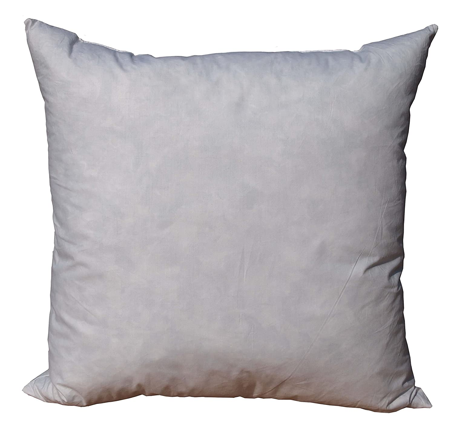Pillowflex 95% Feather by 5% Down Pillow Form Insert Stuffers for Throw sham Covers and Cushions (28 Inch by 28 Inch)