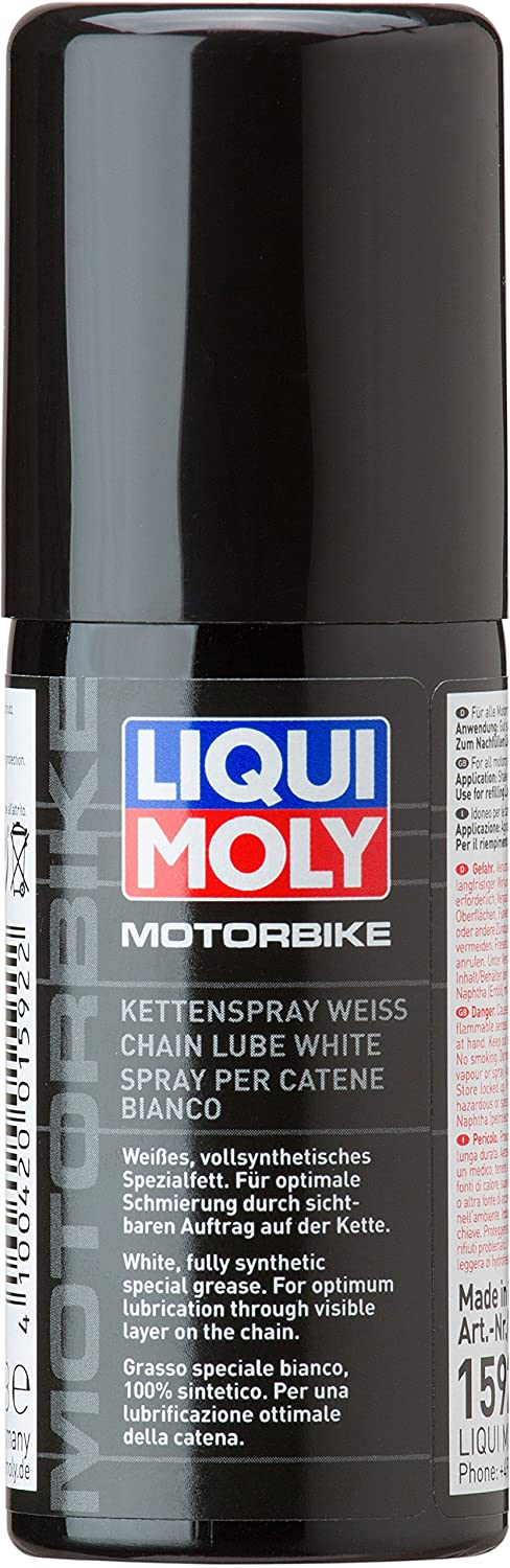 Liquimoly Spray per catene bianco 400 ml (Lubrificanti Catena) / Motorbike Chain Lube white 400 ml (Chain lubricants) Liqui Moly GmbH 1591