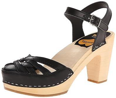 swedish hasbeens Women s Agneta Platform Sandal Black 8 ... 0ea873cd5