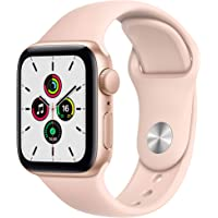 Apple Watch SE (GPS, 40-mm) kast van goudkleurig aluminium - Rozenkwarts sportbandje