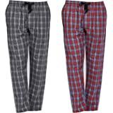 Banter Men's Cotton Checkered Pyjama Pack of 2 (Assorted Multicolor)