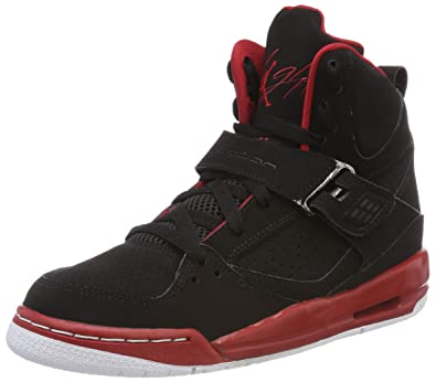 the best attitude ed135 35e37 NIKE Boys  Jordan Flight 45 High IP BG Basketball Shoes, Rojo (Gym Red Wolf  Grey-Black-White), 4 UK  Amazon.co.uk  Shoes   Bags