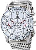 Constantin Durmont Herren-Armbanduhr XL Lancer Chronograph Quarz Edelstahl CD-LANC-QZ-STM2-STST-WH