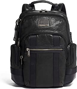 TUMI - Alpha Bravo Nathan Leather Laptop Backpack - 15 Inch Computer Bag for Men and Women - Black
