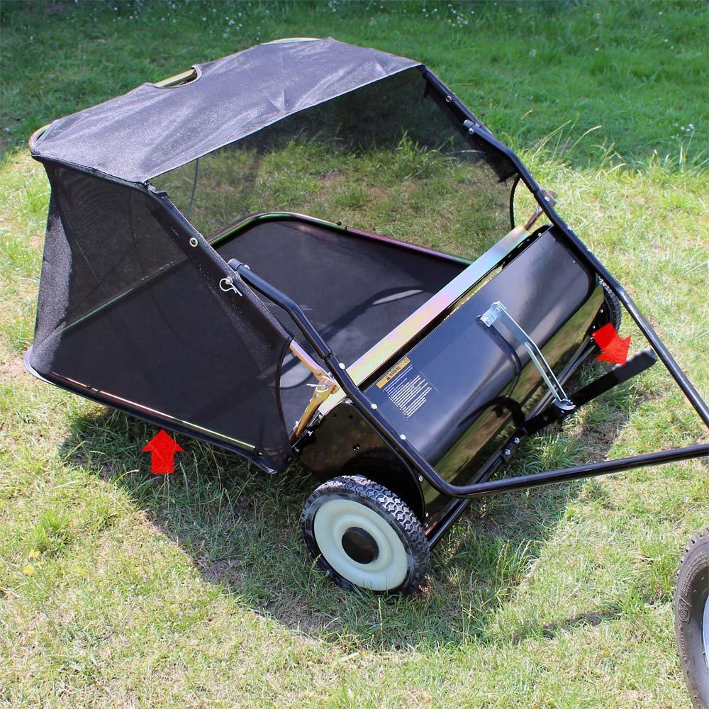 Barredora de césped Barredora de césped 105 cm para segadora con operador abordo Tractor de césped: Amazon.es: Jardín