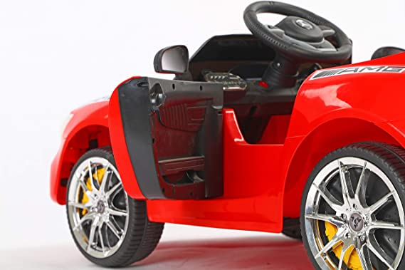 Toy House Futuristic Benzy AMG Rechargeable Battery Operated Plastic Ride-on Car for Kids (2 to 5 Years)