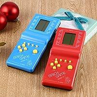Leruyx Electronic Tetris Brick Game Kids Classic Handheld Game Machine con Game Music Boys Girls LCD Juguetes educativos