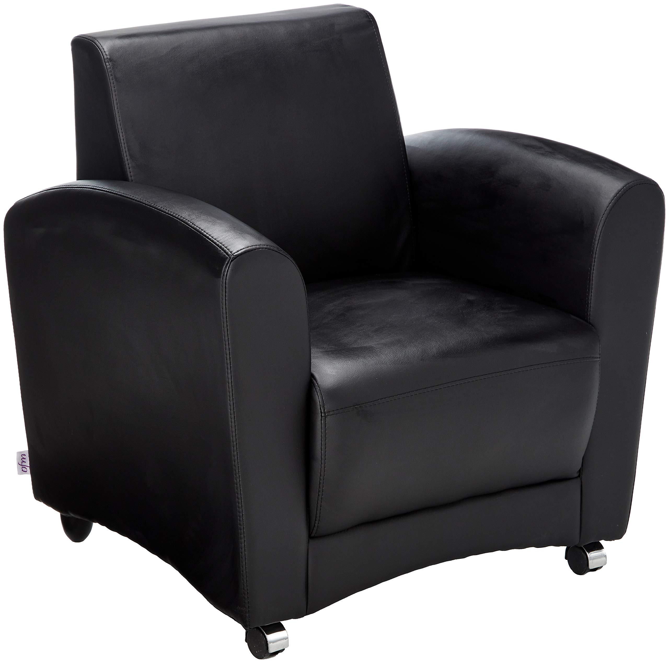 OFM InterPlay Series Upholstered Guest / Reception Chair, Black by OFM