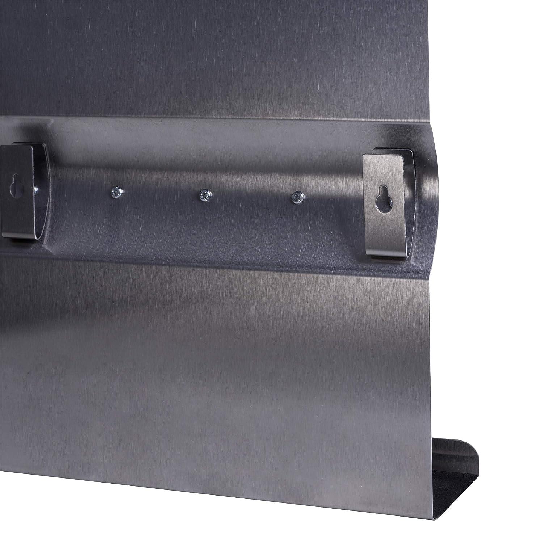 Llavero de Acero Inoxidable con Magnético Pared + Imanes Colgador para Llaves con Pizarra magnética de Llaves y memoboar Llave Tabla 24 x 24 x 7 cm
