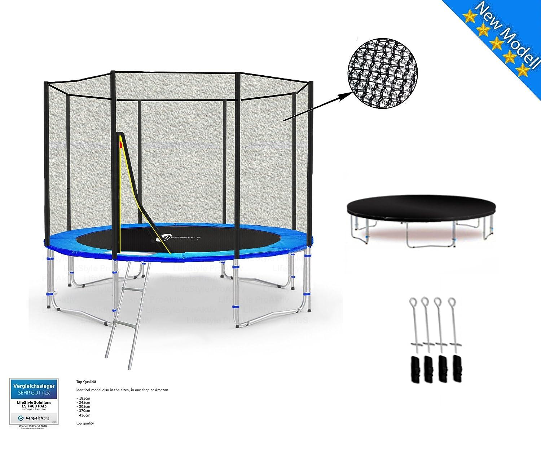 LS-T305-PA10 (BA) LifeStyle ProAktiv Garten- Trampolin 305 cm - 10ft - Extra Starkes Sicherheitsnetz - Neu