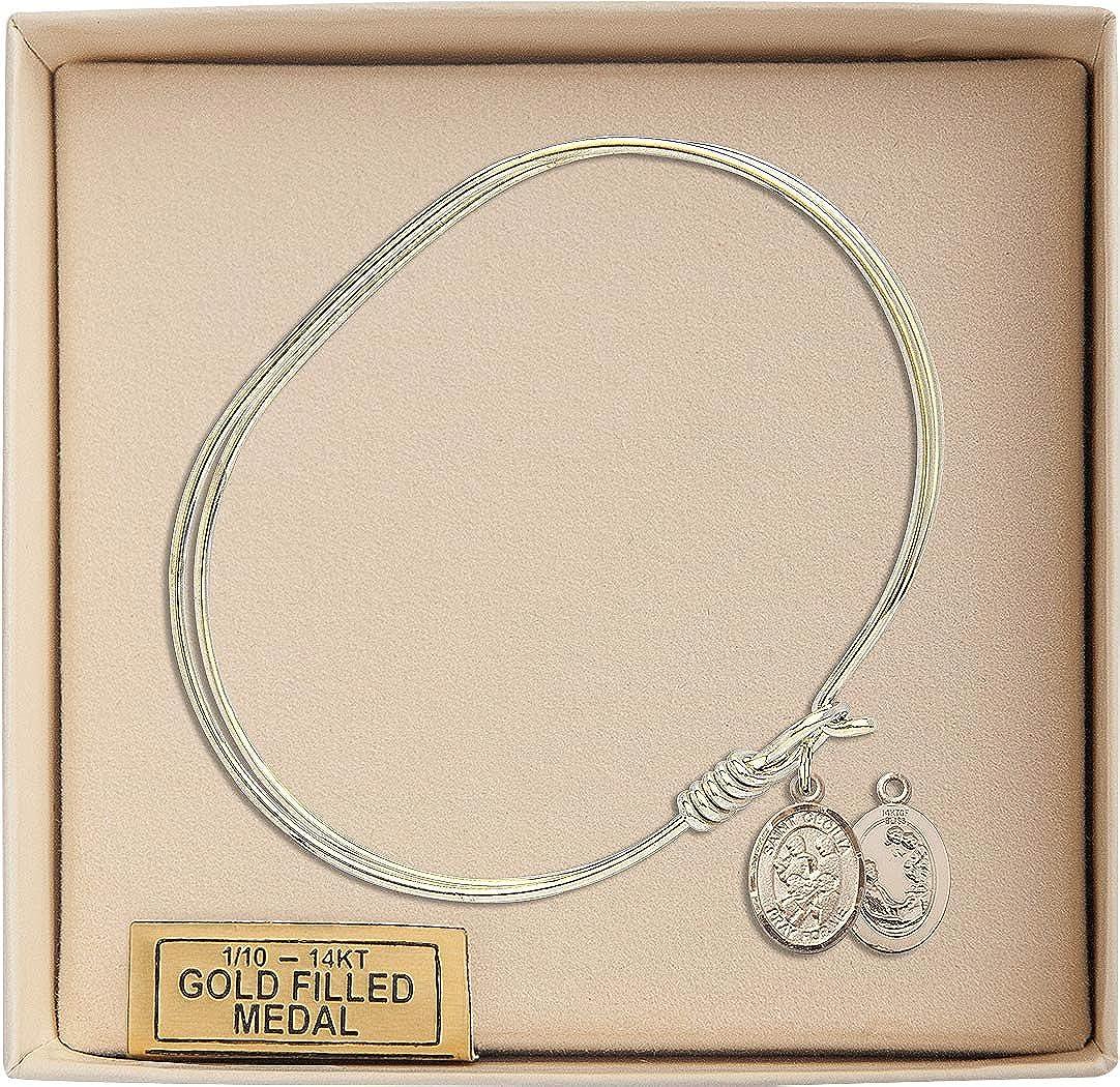 St Cecilia Marching Band Charm On A 7 Inch Oval Eye Hook Bangle Bracelet