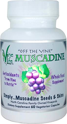 VineLife Muscadine Grape Seed Skin 650mg – 60 Veggie Capsules – Antioxidant Superfood – 1300mg Per Serving – Natural Resveratrol