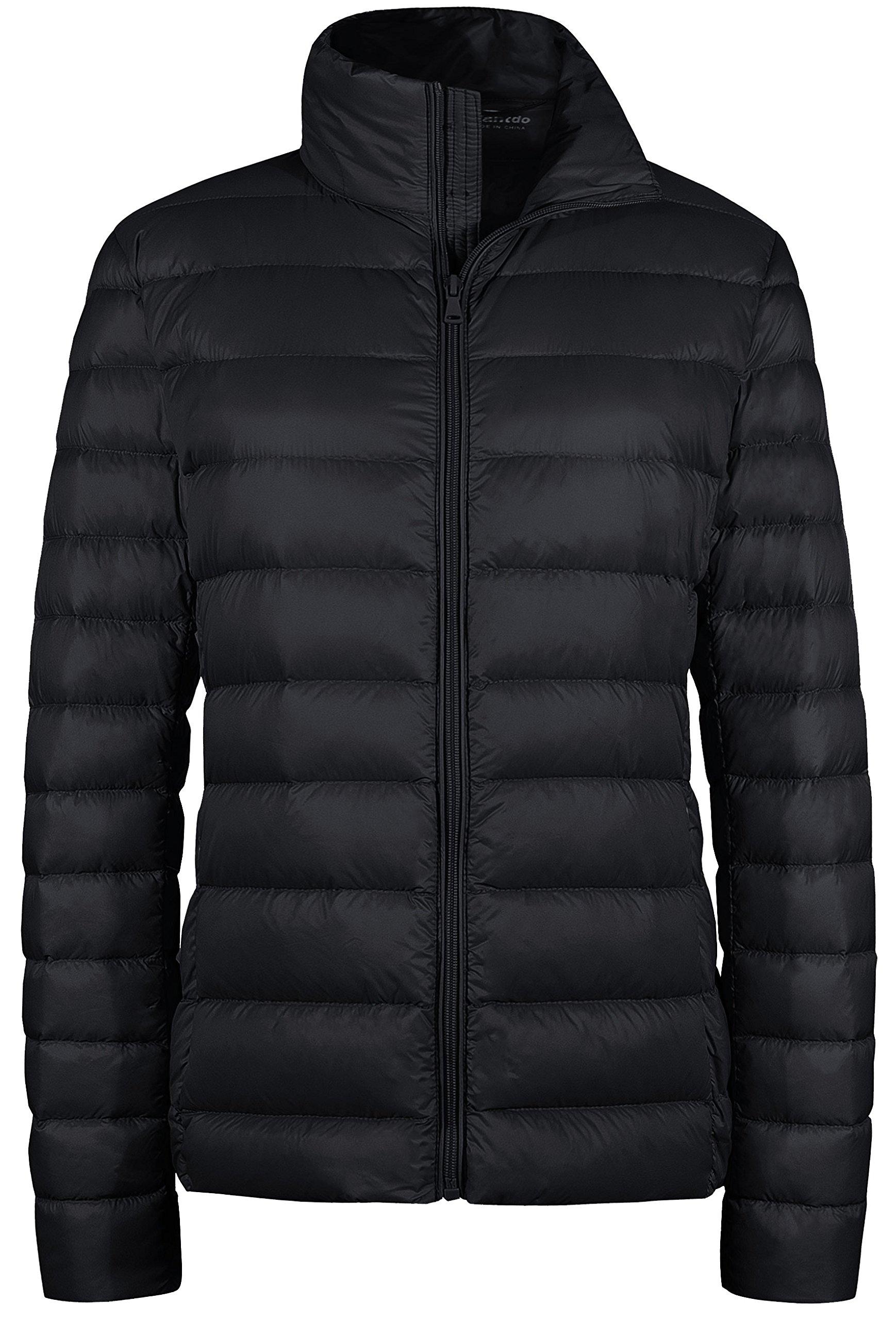 Wantdo Women's Packable Ultra Light Weight Short Down Jacket Black