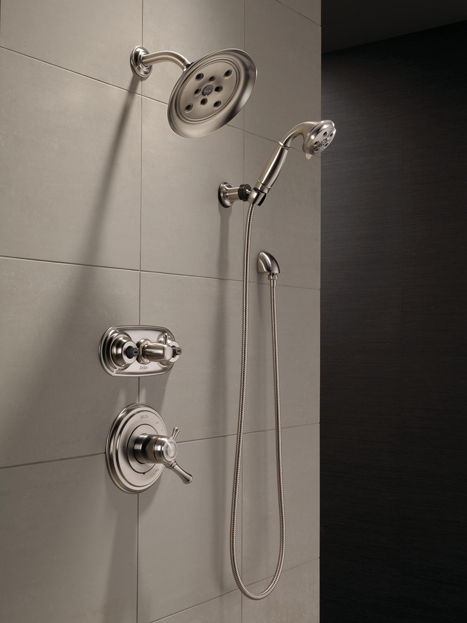Delta Faucet Cassidy 17 Series Dual-Function Shower Handle Valve Trim Kit, Chrome T17097 (Valve Not Included) by DELTA FAUCET (Image #1)