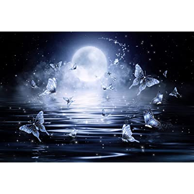 Jigsaw Puzzle 1000 Piece Butterflies Flying Above The Moon Art Paintings: Home & Kitchen