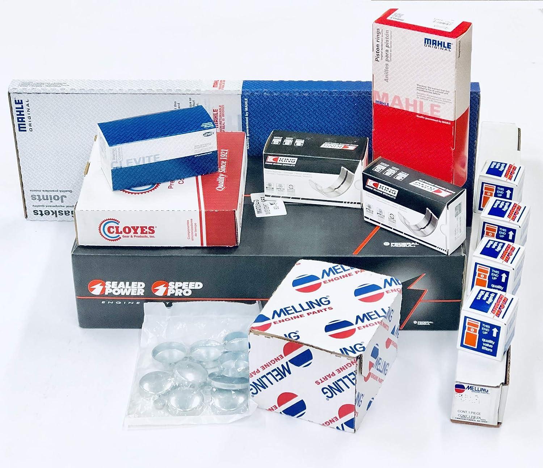 Chevy 350 5 7 VIN-K MASTER Engine Kit Pistons+Rings+Cam+5/8 Oil Pump 87-94