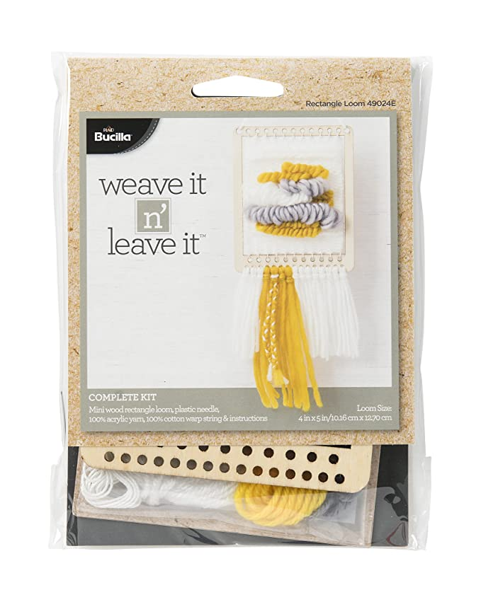 Amazon Bucilla 49024e Rectangle Mini Loom Weave It N Leave It Kit