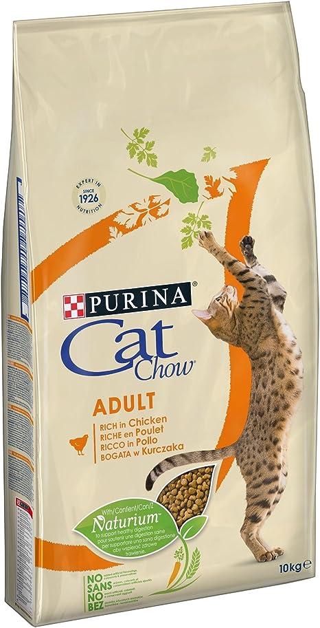 CAT CHOW - Croquetas con naturiumtm ricas en pollo para gato ...