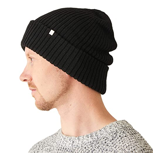 35ce81d87de Womens Chunky Silk Beanie - Mens Soft Slouchy Winter Knit Hat Oversized  Chemo Cap Fashion Baggy