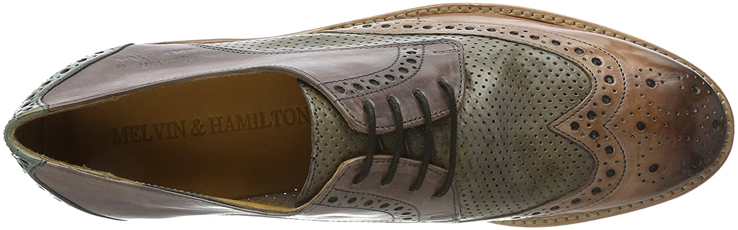 Melvin  Hamilton Amelie 3, Scarpe Scarpe Scarpe Stringate Derby Donna, Crust Perfo/Pale Rose/Morning Grey/Sweet Water/LS Nat), EU - c9eb37