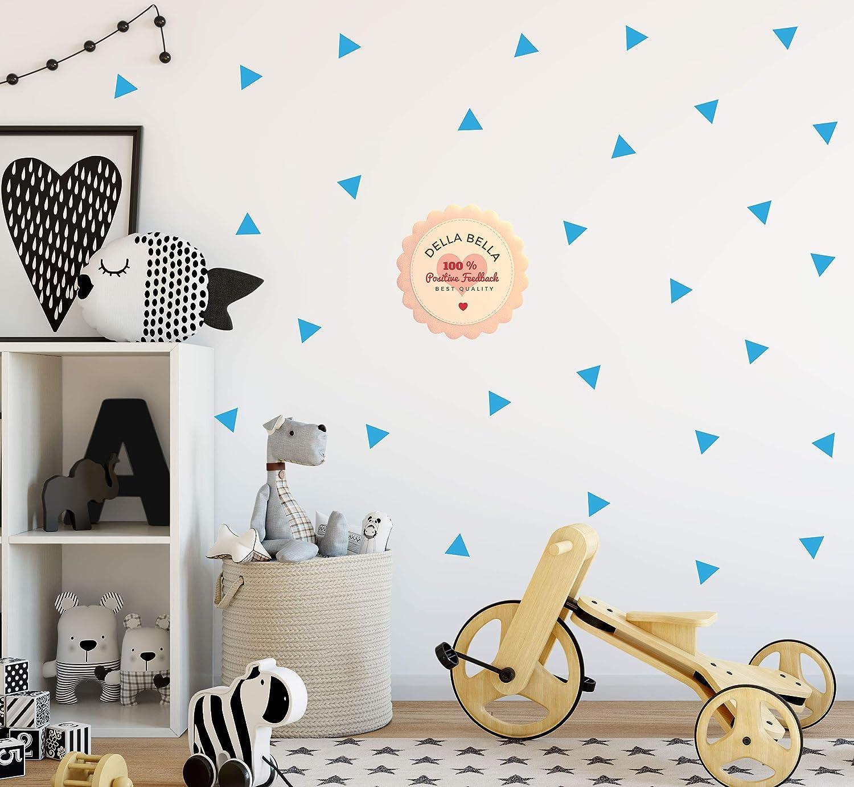 Removable Vinyl Decal Black Gloss 152 Triangle Wall Art Sticker Set Geometric Pattern for Nursery Children Bedroom Room Decor