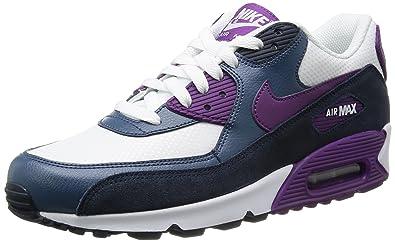 best service eaee8 0fd9f Nike WMNS Air Max 90 Essential 616730107 Womens Sneaker, weißAnthrazit lila,