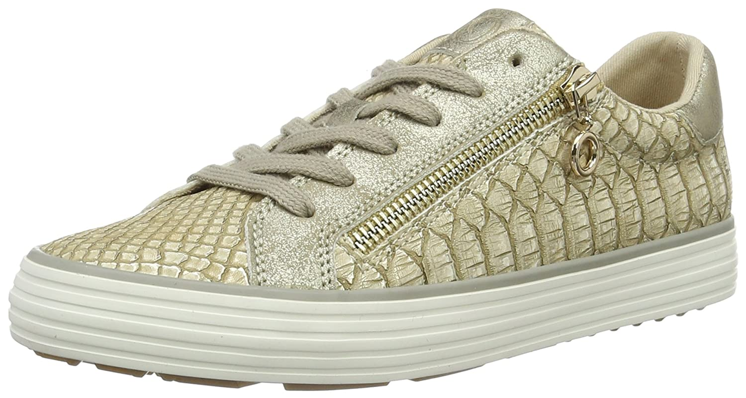 s.Oliver 23615, Zapatillas para Mujer 40 EU|Beige (Dune/Gold 425)