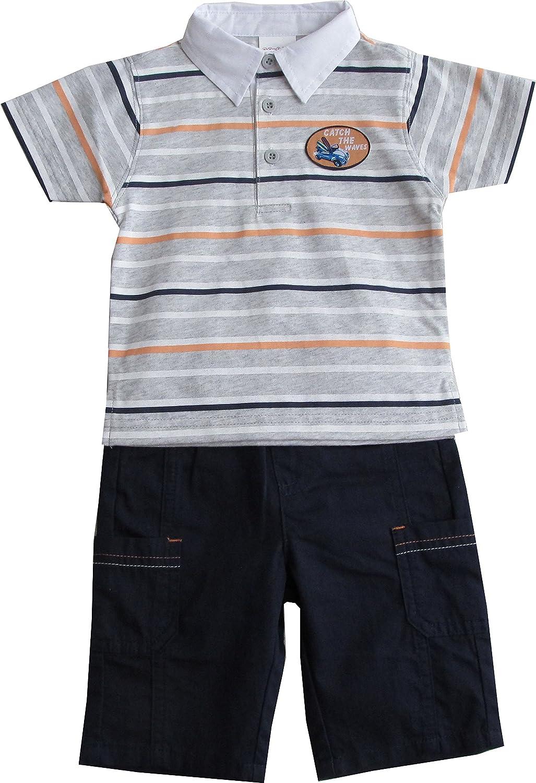 Schnizler Boys Catch The Waves Mit Poloshirt Und Bermuda Clothing Set