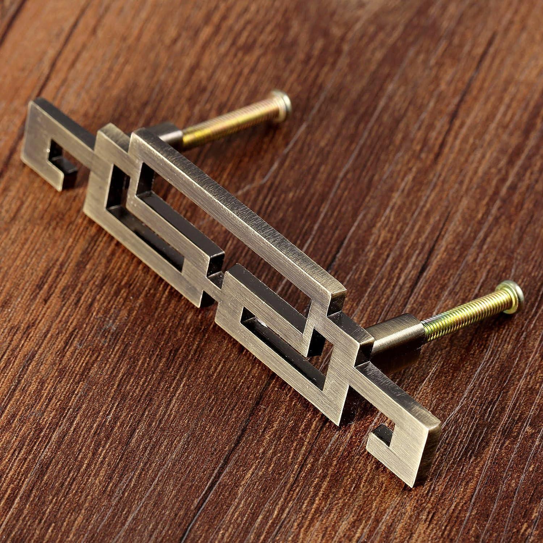 estilo vintage bronce envejecido 64 mm 2 unidades Tiradores para puerta de armario 128 mm bronce antiguo